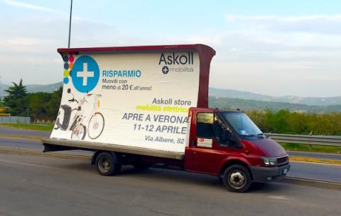 furgoni pubblicitari noleggio vele pubblicita vicenza verona padova