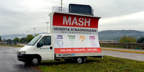 camion vela noleggio vicenza padova pubblicita itinerante